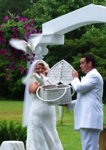 unique wedding dove release